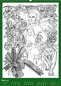 Burlesque Malkalender, Malbuch / burlesque coloring book mit Bildern von Sara Horwath (Wandkalender 2019 DIN A2 hoch) - Produktdetailbild 5