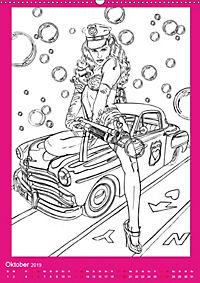 Burlesque Malkalender, Malbuch / burlesque coloring book mit Bildern von Sara Horwath (Wandkalender 2019 DIN A2 hoch) - Produktdetailbild 10
