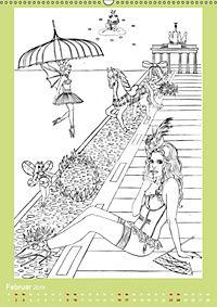 Burlesque Malkalender, Malbuch / burlesque coloring book mit Bildern von Sara Horwath (Wandkalender 2019 DIN A2 hoch) - Produktdetailbild 2