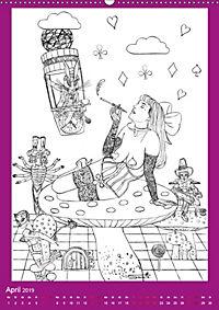 Burlesque Malkalender, Malbuch / burlesque coloring book mit Bildern von Sara Horwath (Wandkalender 2019 DIN A2 hoch) - Produktdetailbild 4