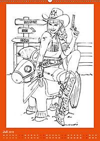 Burlesque Malkalender, Malbuch / burlesque coloring book mit Bildern von Sara Horwath (Wandkalender 2019 DIN A2 hoch) - Produktdetailbild 7