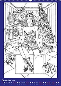 Burlesque Malkalender, Malbuch / burlesque coloring book mit Bildern von Sara Horwath (Wandkalender 2019 DIN A2 hoch) - Produktdetailbild 12