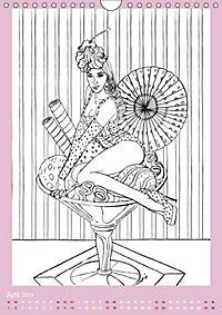 Burlesque Malkalender, Malbuch / burlesque coloring book mit Bildern von Sara Horwath (Wandkalender 2019 DIN A4 hoch) - Produktdetailbild 6