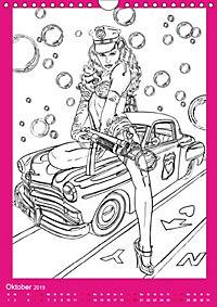 Burlesque Malkalender, Malbuch / burlesque coloring book mit Bildern von Sara Horwath (Wandkalender 2019 DIN A4 hoch) - Produktdetailbild 10