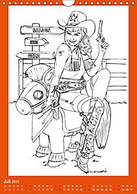 Burlesque Malkalender, Malbuch / burlesque coloring book mit Bildern von Sara Horwath (Wandkalender 2019 DIN A4 hoch) - Produktdetailbild 7