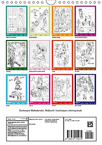 Burlesque Malkalender, Malbuch / burlesque coloring book mit Bildern von Sara Horwath (Wandkalender 2019 DIN A4 hoch) - Produktdetailbild 13