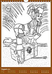 Burlesque Malkalender, Malbuch / burlesque coloring book mit Bildern von Sara Horwath (Wandkalender 2019 DIN A4 hoch) - Produktdetailbild 8