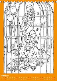 Burlesque Malkalender, Malbuch / burlesque coloring book mit Bildern von Sara Horwath (Tischkalender 2019 DIN A5 hoch) - Produktdetailbild 3
