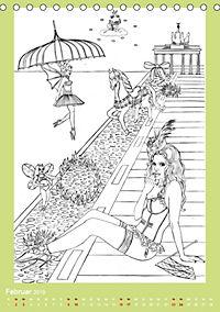 Burlesque Malkalender, Malbuch / burlesque coloring book mit Bildern von Sara Horwath (Tischkalender 2019 DIN A5 hoch) - Produktdetailbild 2