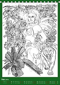 Burlesque Malkalender, Malbuch / burlesque coloring book mit Bildern von Sara Horwath (Tischkalender 2019 DIN A5 hoch) - Produktdetailbild 5