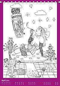 Burlesque Malkalender, Malbuch / burlesque coloring book mit Bildern von Sara Horwath (Tischkalender 2019 DIN A5 hoch) - Produktdetailbild 4