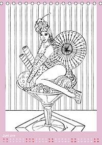 Burlesque Malkalender, Malbuch / burlesque coloring book mit Bildern von Sara Horwath (Tischkalender 2019 DIN A5 hoch) - Produktdetailbild 6