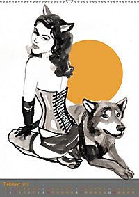 Burlesque Tierchen, pets & Kuscheltiere (Wandkalender 2019 DIN A2 hoch) - Produktdetailbild 2