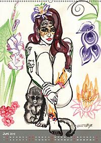 Burlesque Tierchen, pets & Kuscheltiere (Wandkalender 2019 DIN A2 hoch) - Produktdetailbild 6
