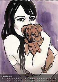 Burlesque Tierchen, pets & Kuscheltiere (Wandkalender 2019 DIN A2 hoch) - Produktdetailbild 10