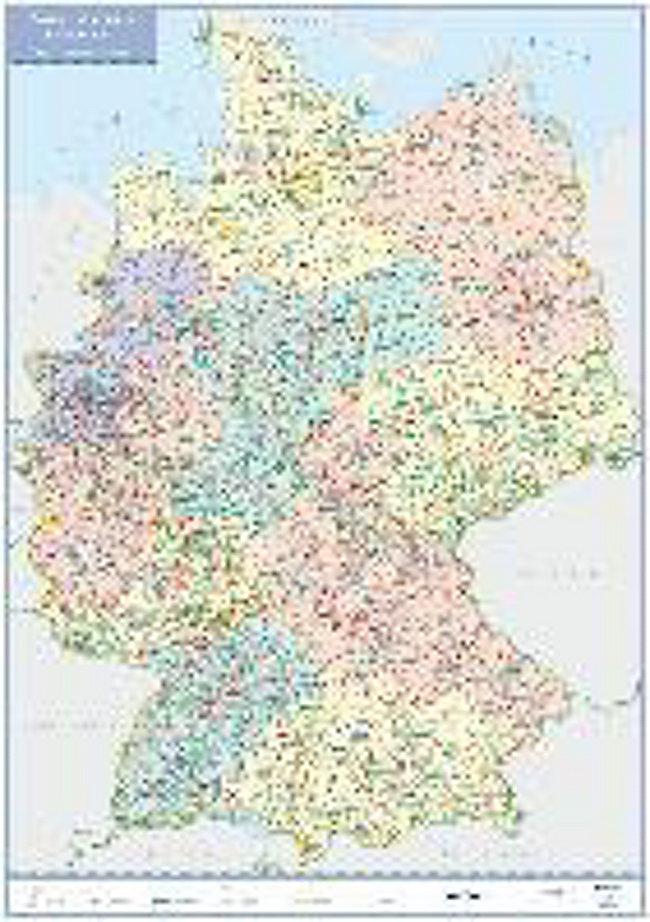 Postleitzahlen Karte Deutschland.Busche Map Postleitzahlenkarte Deutschland Planokarte Buch