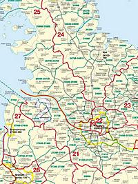 Busche Map Postleitzahlenkarte Deutschland, Planokarte - Produktdetailbild 1