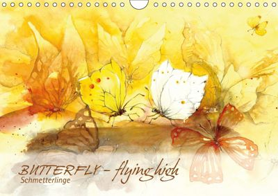 BUTTERFLY - flying high, Schmetterlinge (Wandkalender 2019 DIN A4 quer), Sabine Floner