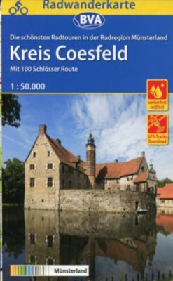 BVA Radwanderkarte Radregion Münsterland Kreis Coesfeld 1:50.000, reiß- und wetterfest, GPS-Tracks Download