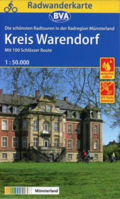BVA Radwanderkarte Radregion Münsterland Kreis Warendorf 1:50.000, reiß- und wetterfest, GPS-Tracks Download