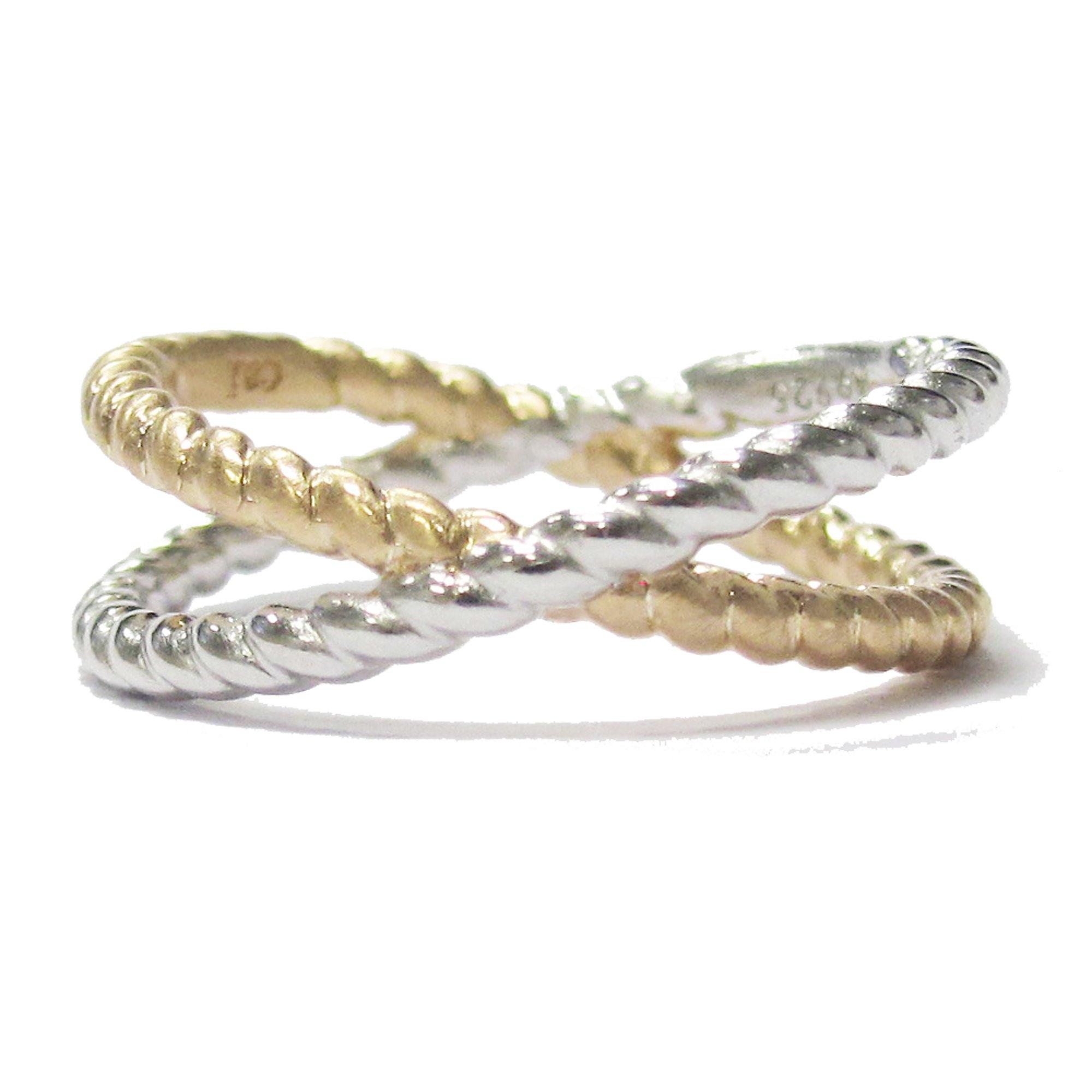 7e5335f1fd Cai Ring 925/- Sterling Silber ohne Stein Matt/Glanz (Größe: 060 (19,1))