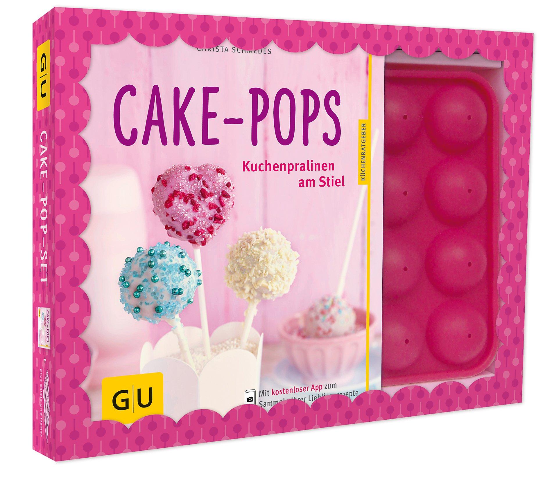 cake pop set buch mit backform und 20 cakepop stielen. Black Bedroom Furniture Sets. Home Design Ideas