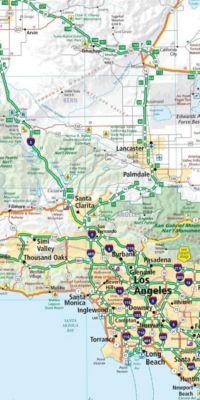 California, Nevada Strassenkarte 1:1 Mio., Road Guide Nr. 5