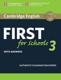 Cambridge English First for Schools 3: Student's Book with answers