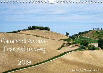 Camino di Assisi - FranziskuswegAT-Version (Wandkalender 2019 DIN A4 quer), Alexandra Luef