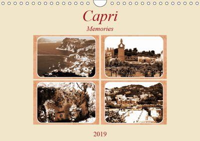 Capri Memories (Wall Calendar 2019 DIN A4 Landscape), Linda Schilling
