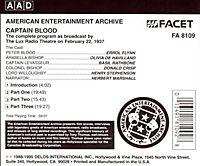 Captain Blood/Radio 1937 - Produktdetailbild 1