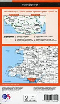 Cardiff and Bridgend/Caerdydd a Phen-y-bont ar Ogwr 1 : 25 000 - Produktdetailbild 1
