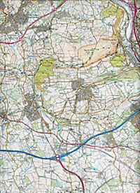 Cardiff and Bridgend/Caerdydd a Phen-y-bont ar Ogwr 1 : 25 000 - Produktdetailbild 2