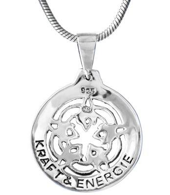 Kette Anhänger DEANA Keltische Unendlichkeit Silber  Amulet mit Band