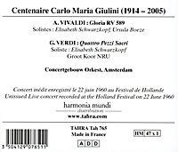 Carlo Maria Giulini In Amsterdam - Produktdetailbild 1