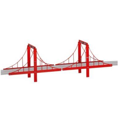 Carrera - Go!!! Brücken-Set, 4 Brückenteile mit Querstreben