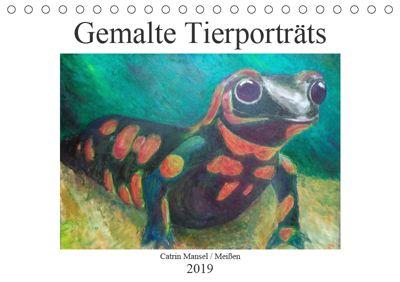 Catrin Mansel - Gemalte Tierporträts (Tischkalender 2019 DIN A5 quer), Catrin Mansel