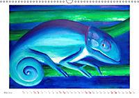 Catrin Mansel - Gemalte Tierporträts (Wandkalender 2019 DIN A3 quer) - Produktdetailbild 5