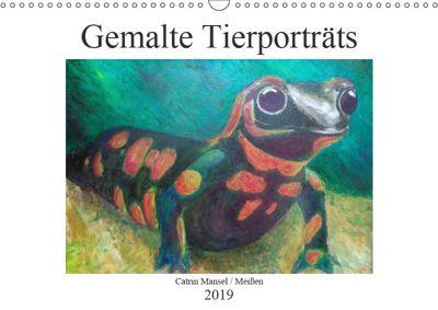 Catrin Mansel - Gemalte Tierporträts (Wandkalender 2019 DIN A3 quer), Catrin Mansel