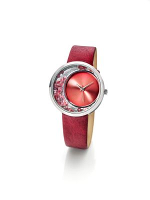 cb Damen Armbanduhr Granat