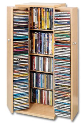 Bauanleitung beleuchtetes und fahrbares CD Regal bzw. DVD Regal