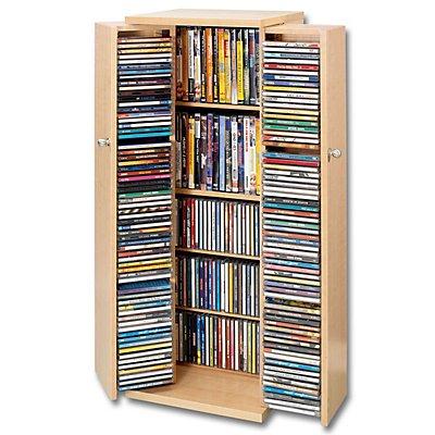 cd schrank f r 296 cds farbe nussbaum bestellen. Black Bedroom Furniture Sets. Home Design Ideas