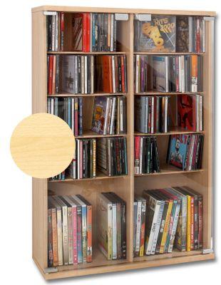 CD-Schrank für 300 CDs, Ahorn