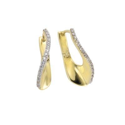 Celesta Gold Creolen 375/- Gelbgold Zirkonia