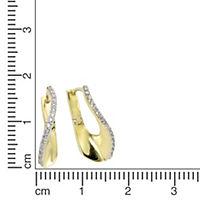 Celesta Gold Creolen 375/- Gelbgold Zirkonia - Produktdetailbild 1