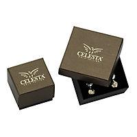 Celesta Gold Creolen 375/- Gelbgold Zirkonia - Produktdetailbild 2