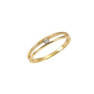 Celesta Gold Ring 375/- Gelbgold Zirkonia (Größe: 058 (18,5))