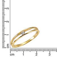 Celesta Gold Ring 375/- Gelbgold Zirkonia (Größe: 060 (19,1)) - Produktdetailbild 1