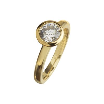 Celesta Silber Ring 925/- Sterling Silber vergoldet (Größe: 060 (19,1))