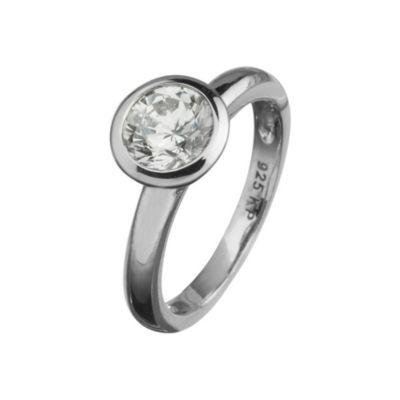 Celesta Silber Ring 925/- Sterling Silber Zirkonia (Größe: 058 (18,5))